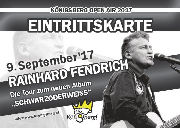 Eintrittskarte vom Königsberg Open Air mit Rainhard Fendrich